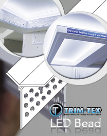 LED Light Bead a new plastering trim from Trim-Tex available at Wallboard Tools